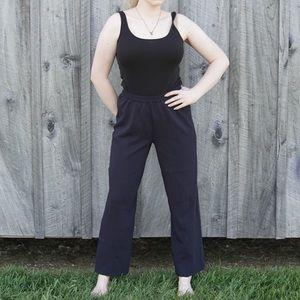 UO navy knit trouser pants sm